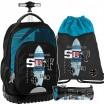 Školský batoh pre chlapcov na kolieskach v sade s peračníkom a vakom