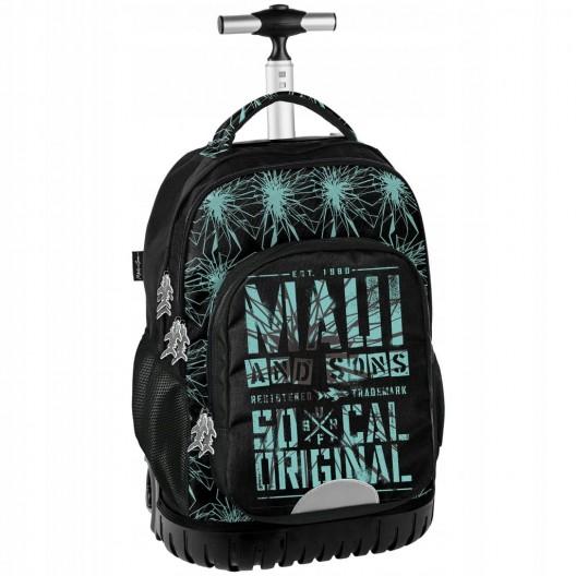 Kvalitný školský batoh na kolieskach v kombinácii s peračníkom a vakom