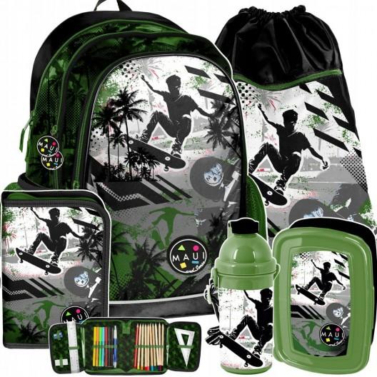 Chlapčenský školský set v zelenej farbe