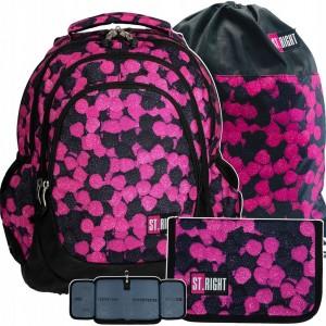 Školský batoh pre dievčatá s peračníkom a vreckom
