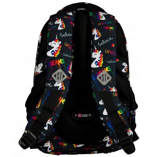 Dievčenský batoh s jednorožcami v trojčasťovom sete