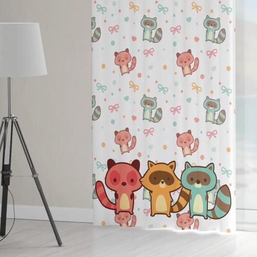 Roztomilé závesy do detskej izby s motívom medvedíkov čistotných