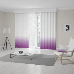 Originálne závesy do obývačky šité na mieru v ombré bielo fialovej farbe