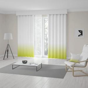 Unikátny zeleno žltý ombré záves do obývačky šitý na mieru