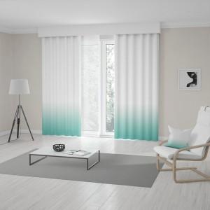 Moderné tyrkysovo biele závesy šité na mieru v módnom ombré designe