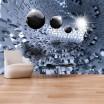 Moderná 3D tapeta s abstraktným motívom puzzle