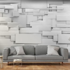 Štýlová 3D tapeta s abstraktným zvýraznením priestoru