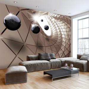 Originálna 3D tapeta s abstraktným motívom utópia