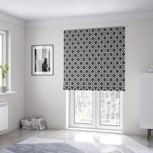 Originálne čierno biele škandinávske rolety na okná šité na mieru