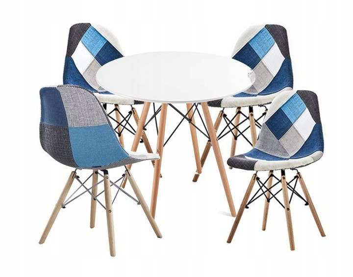 DomTextilu Pohodlná interiérová stolička v štýle patchwork do obývačky 14839