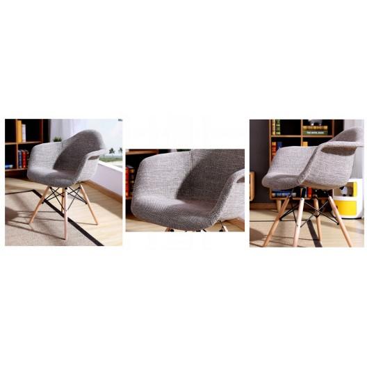 Pohodlná interierová stolička do jedálne sivej farby