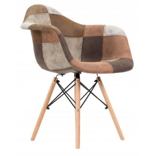 Dizajnová kuchynská stolička hnedej farby