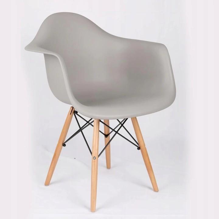 DomTextilu Moderná stolička sivej farby do kuchyne 14853