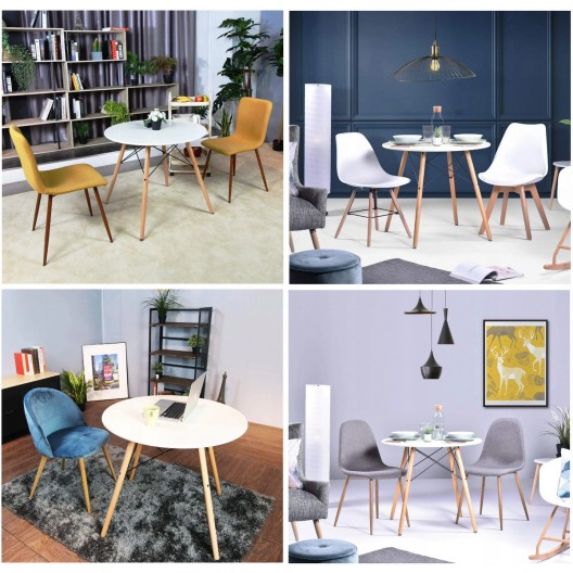 Moderný konferenčný stolík v škandinávskom štýle