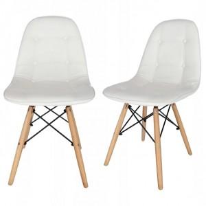 Pohodlná biela stolička do moderného interiéru