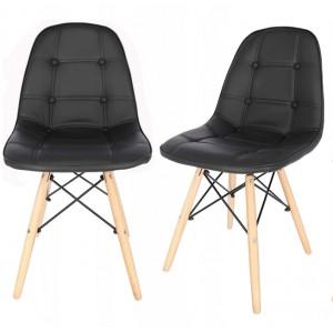 Luxusná jedálenská stolička čiernej farby