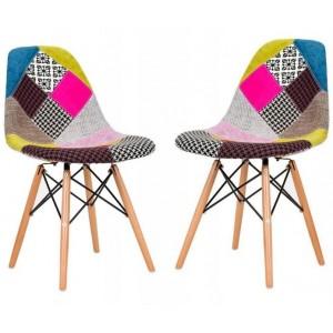 Moderná pestrofarebná stolička v škandinávskom štýle