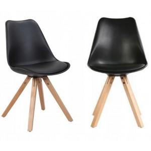 Čierna pohodlná stolička do moderného interiéru