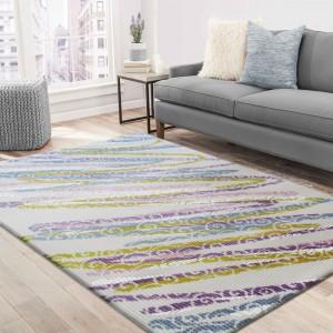 Farebný koberec do obývačky