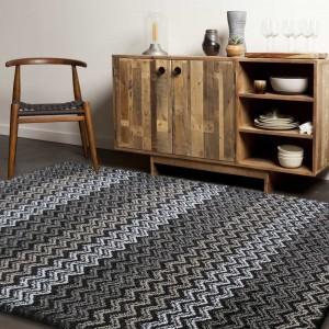 Hnedo sivý koberec do obývačky