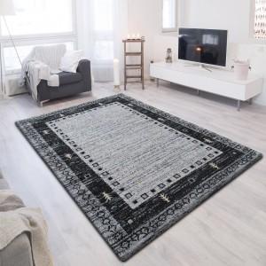 Moderný sivý koberec