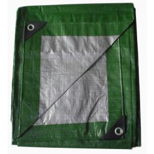 Zeleno strieborná krycia plachta mrazuvzdorná