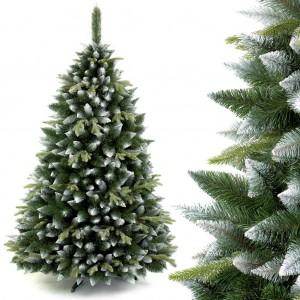 Vianočný stromček s bielymi vetvičkami borovica