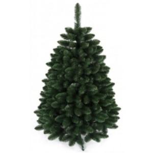 Hustý tmavo zelený vianočný stromček