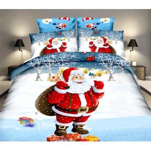 Vianočné posteľné obliečky s mikulášom