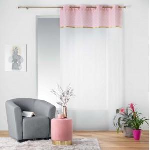 Elegantná záclona s ružovo zlatým vrchom DUCHESSE