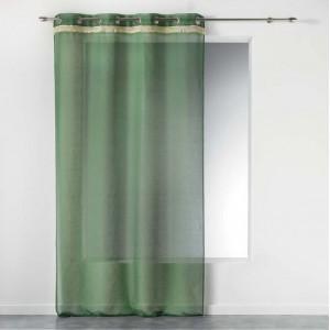 Štýlová zelená záclona na okno FRANGY