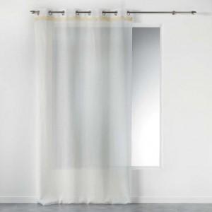 Jemná elegantná záclona v bielej farbe FRANGY