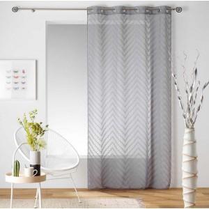 Sivá záclona s jemným vzorom SAHARA