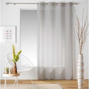 Béžová záclona s elegantným vzorom SAHARA