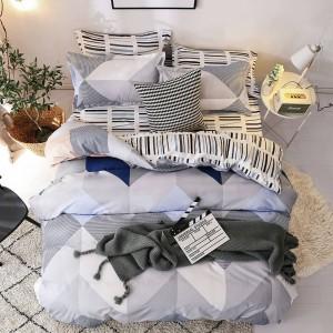 Kvalitné vzorované posteľné obliečky sivej farby