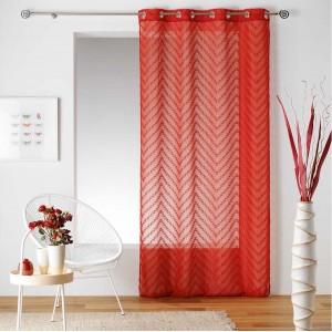 Štýlová červená záclona na veľké okná