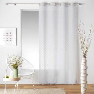 Biela dlhá záclona na okno SAHARA