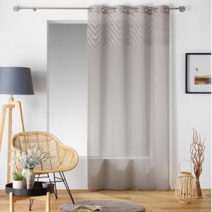 Elegantná záclona béžovej farby SAHARA TOP