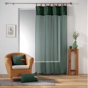 Záclona v zelenej farbe s lesklým vrchom MILLERAY