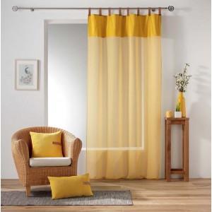 Moderná žltá záclona do obývačky MILLERAY