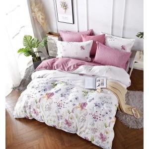 Luxusné posteľné obliečky ružovej farby s kvetinovým motívom