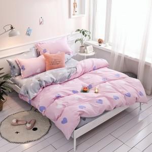 Ružové obojstranné obliečky s motívom sŕdc