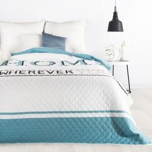 Luxusný farebný prehoz na posteľ s jemným prešívaním