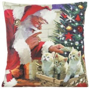 Dekoračná obliečka na vankúš s motívom Vianoc 40x40 cm