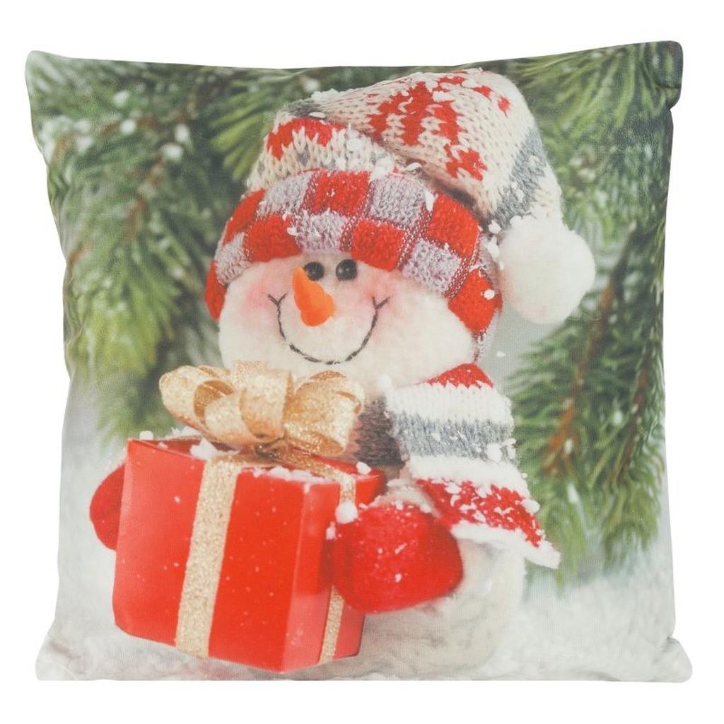 DomTextilu Pestrofarebná vianočná obliečka na vankúš 40x40 cm Červená 15475-105757