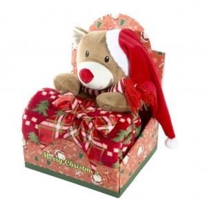 Elegantné darčekové balenie pre dieťatko deka a plyšová hračka
