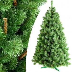 Zelený vianočný strmoček s malými hnedými vetvičkami