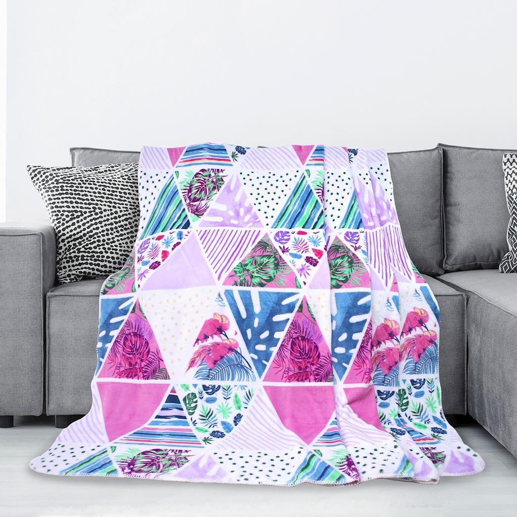 DomTextilu Kvalitná farebná deka z mikrovlákna Šírka: 70 cm | Dĺžka: 150 cm 16382-111076