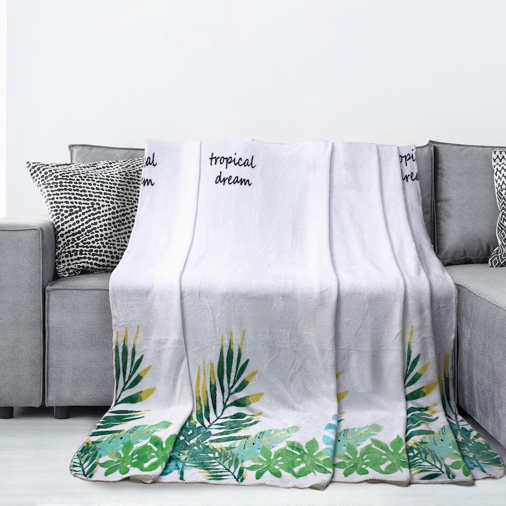 DomTextilu Jemná deka z mikrovlákna s nápisom Šírka: 70 cm | Dĺžka: 150 cm 16385-111085