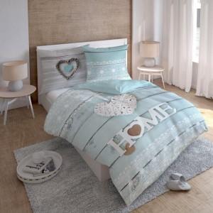 Bavlnené posteľné obliečky mentolovej farby